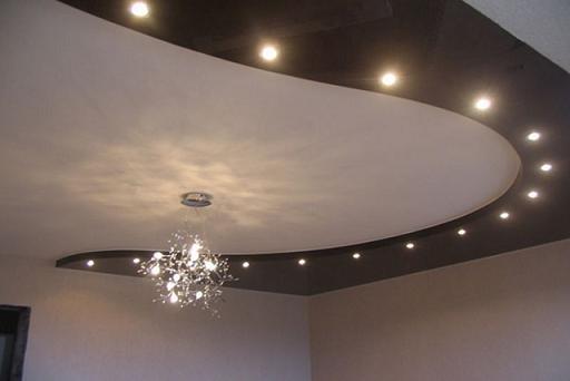 натяжной потолок с фотопечатью в интерьере фото